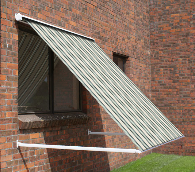 2.0m Half Cassette Drop Arm Awning, Multi Stripe